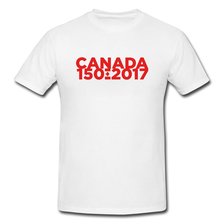 Canada's 150th Birthday Large Wordmark T Shirt