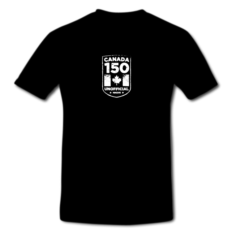 Canada's 150 Birthday of Confederation Unofficial Crest T Shirt