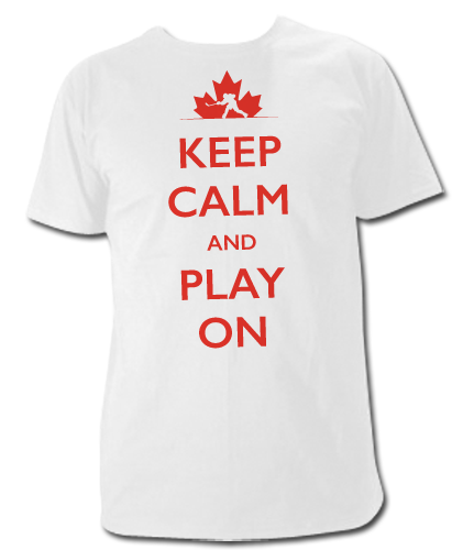 Keep Calm and Play On Ice Hockey T Shirt