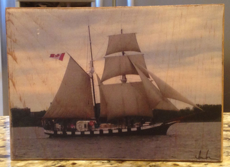 Original Photo Print | Tall Ship Black Jack | Reclaimed Wood
