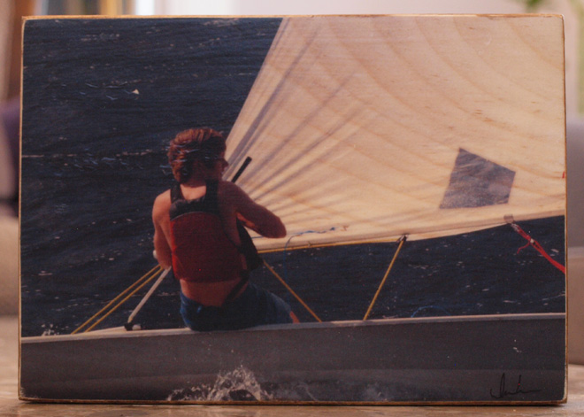Original Photo Print | Laser Sailing | Reclaimed Wood