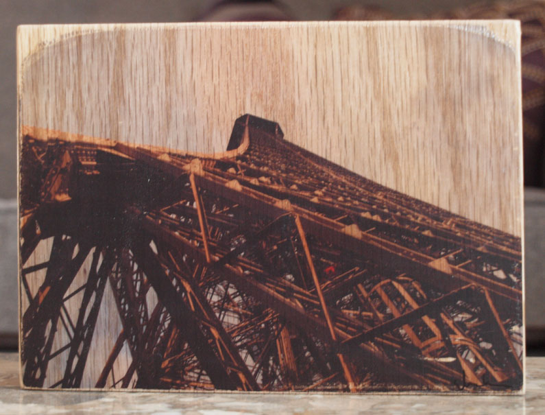Original Photo Print | Eiffel Tower | Reclaimed Wood