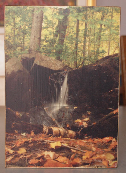 Original Photo Print | Forest Water Fall | Reclaimed Wood