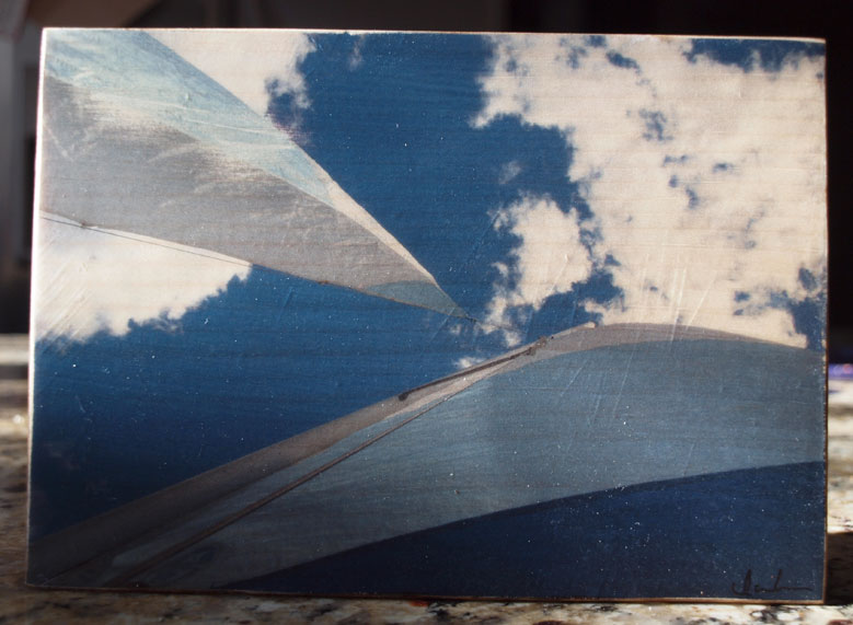 Original Photo Print | Blue and White Sails | Reclaimed Wood
