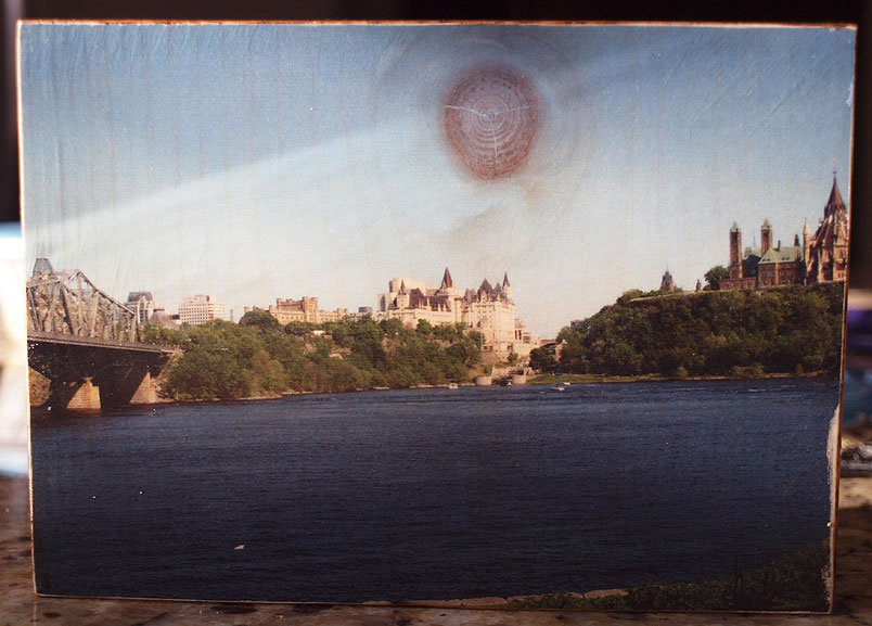 Original Photo Print | Chateau Laurier Ottawa | Reclaimed Wood