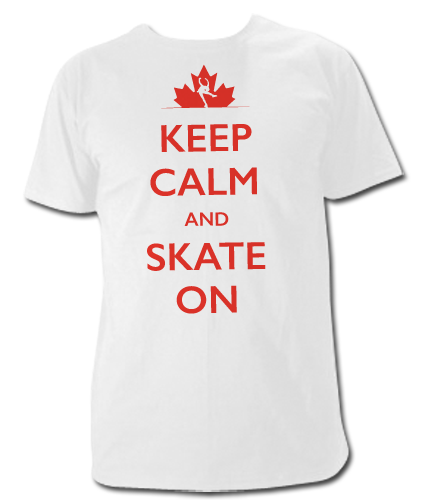 Keep Calm and Skate On T Shirt