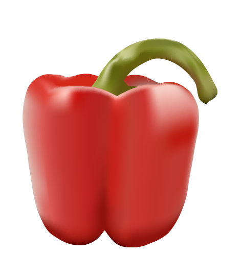 Vector Illustration of a Red Pepper | Cheap Vector Art