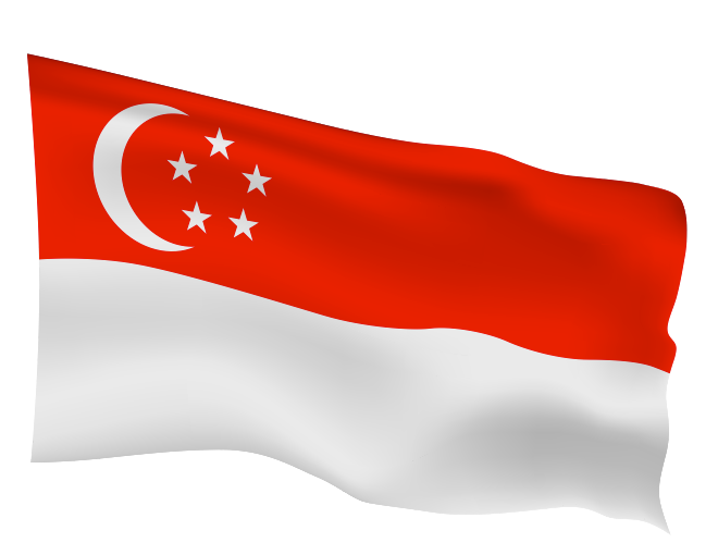 Singapore Flag Scalable | Cheap Vector Art