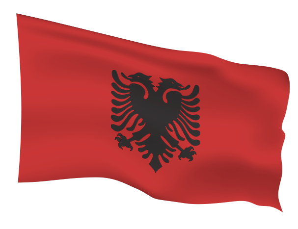 Albania Flag Scalable | Cheap Vector Art