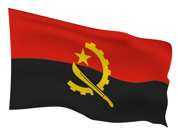 Angola Flag Scalable | Cheap Vector Art