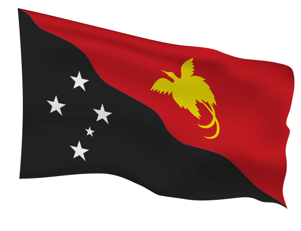 Papua New Guinea Flag Scalable | Cheap Vector Art