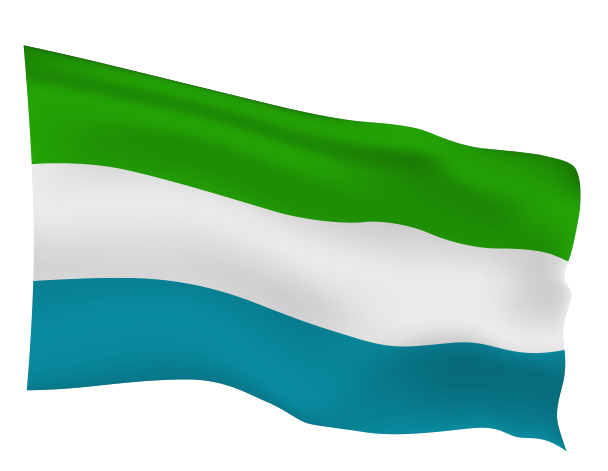 Sierra Leone Flag Scalable | Cheap Vector Art