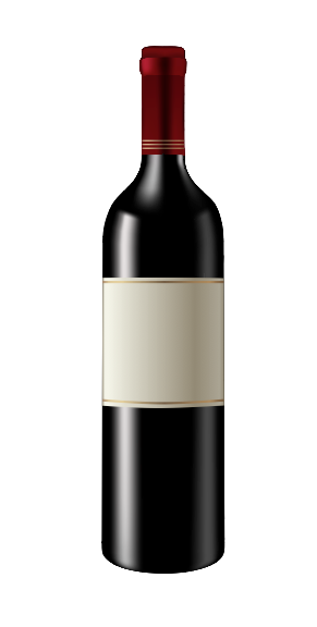 Red Wine Bottle | Cheap Vector Art