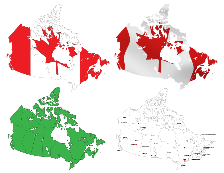 Maps of Canada | Cheap Vector Art