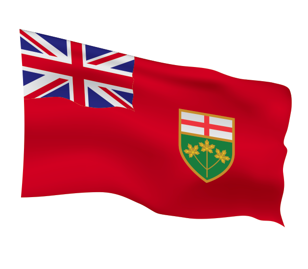 Ontario Flag Scalable | Cheap Vector Art