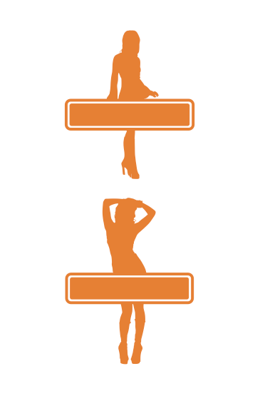 1960s GoGo Girl Signage | Cheap Vector Art