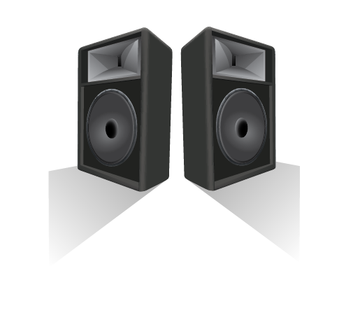 Big Black Speakers | Cheap Vector Art