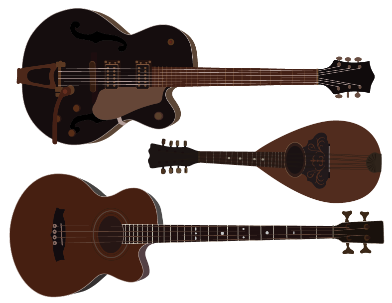 Guitar Bass Mandolin | Cheap Vector Art - Click Image to Close