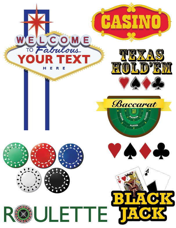 Charity Casino Signage | Cheap Vector Art