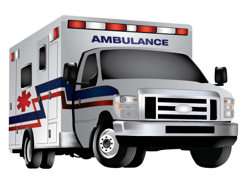 Full Colour Ambulance | Cheap Vector Art