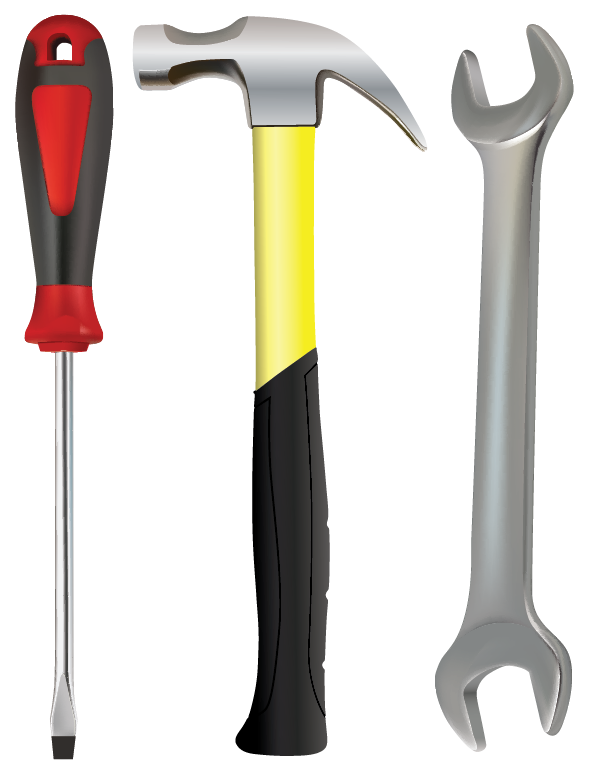 Hammer, Screw Driver & Wrench | Cheap Vector Art
