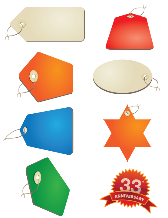 Sale Tags Various Angles and Shapes | Cheap Vector Art