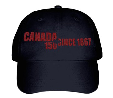 Canada 150 Since 1867 Maple Leaf Baseball Cap in Black