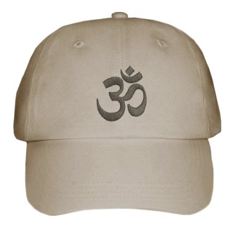 Om Baseball Hat in Grey. - Click Image to Close