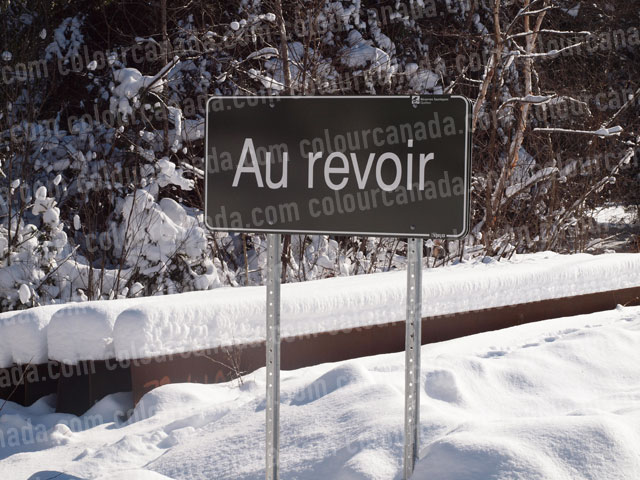Sign that says Au Revoir | Cheap Stock Photo