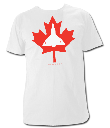 Avro Arrow in Maple Leaf T Shirt