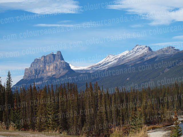 Banff National Park Mountains | Cheap Stock Photo