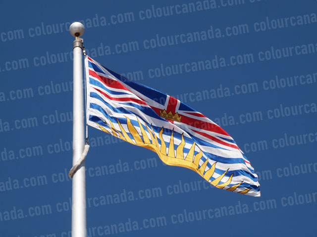British Columbia's Flag (1) | Cheap Stock Photo