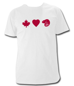 Canadians Love Beaver T Shirt - Click Image to Close