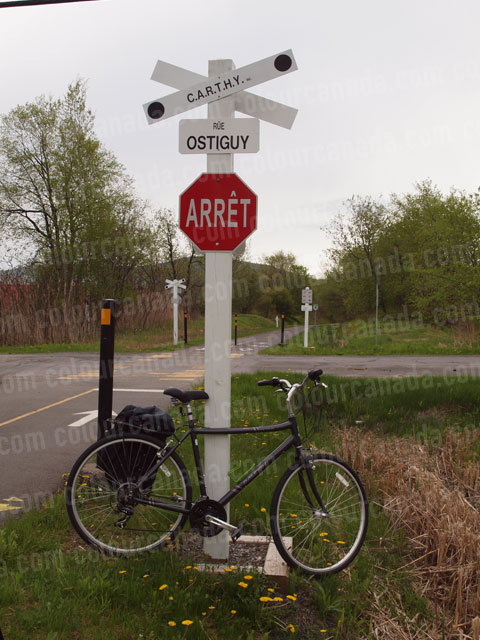 Bicycle & Railway Sign | Cheap High Resolution Stock Photo