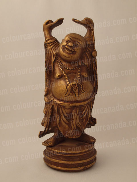 Brass Buddha Statue Smiling | Cheap Stock Photo