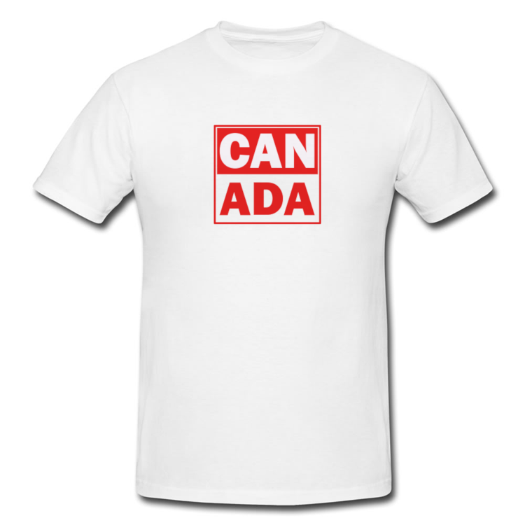 Canada Stacked T Shirt in White or Black