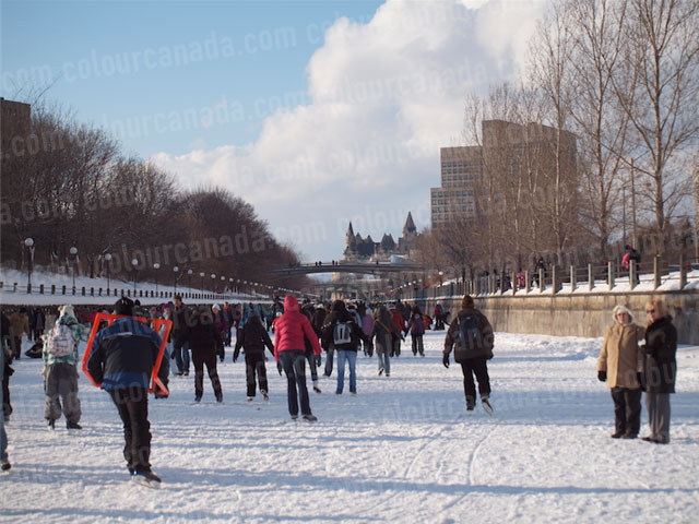Skating on the Rideau Canal | Cheap Stock Photo