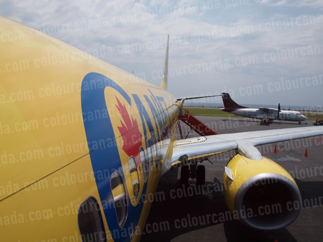 CanJet Boeing 737 (2) Long View | Cheap Stock Photo