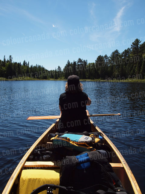Canoe (3) Paddler Camping | Cheap Stock Photo
