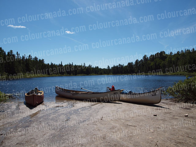 Canoe (4) 3 Canoes on the Beach | Cheap Stock Photo
