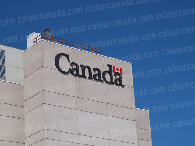 Canada Word Mark on Building | Cheap Stock Photo