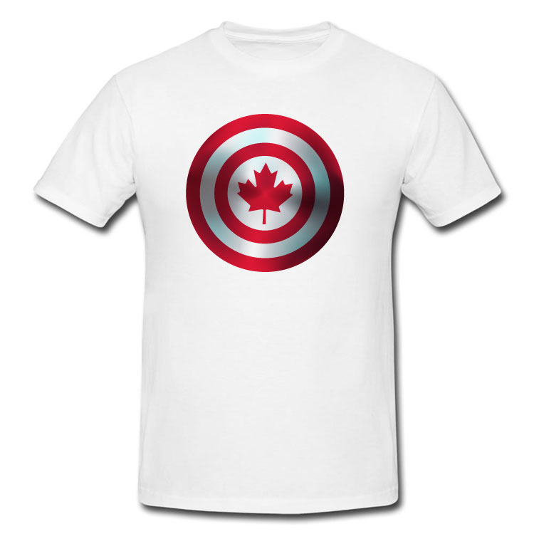 Canadian Super Hero Shield T Shirt