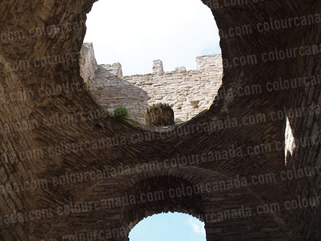 Church Ruins Roof and Wall Visby Sweden | Cheap Stock Photo
