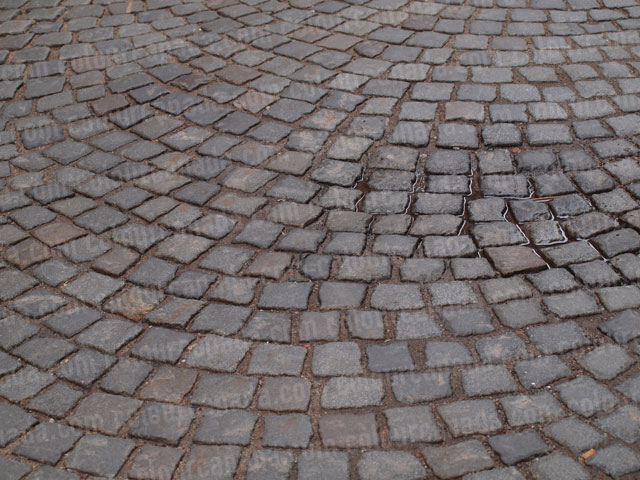 Close up of Cobble Stone Street | Cheap Stock Photograph