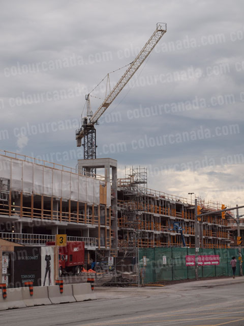 Construction Site With Crane | Cheap High Resolution Stock Photo