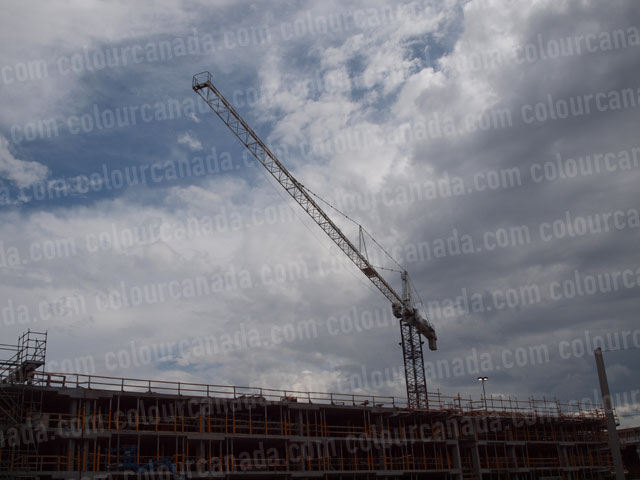 Construction Site With Crane (5) | High Res Cheap Stock Photo