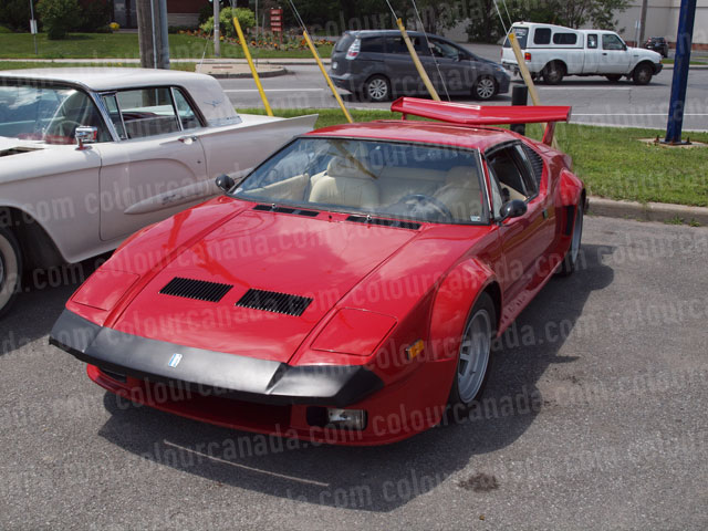 Di Tomaso Red Sports Car | Cheap Stock Photo