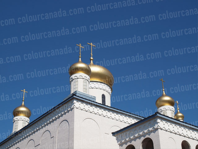 Domes of Gold Russian Orthodox Church | Cheap Stock Photo