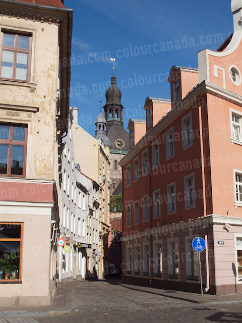 Classic European Street - Riga, Latvia | Cheap Stock Photo
