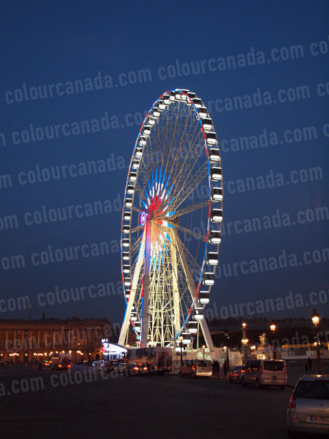 Ferris Wheel (2) Place de la Concorde Paris | Cheap Stock Photo